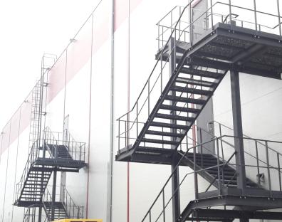Противопожарные и промышленные лестницы